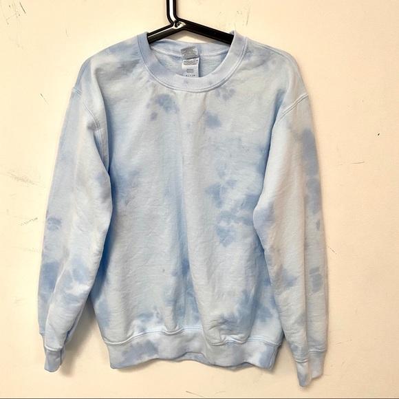 Blue tie dye custom Crewneck sweatshirt